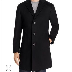 HUGO BOSS size 40R Cashmere Wool 3-Button Topcoat